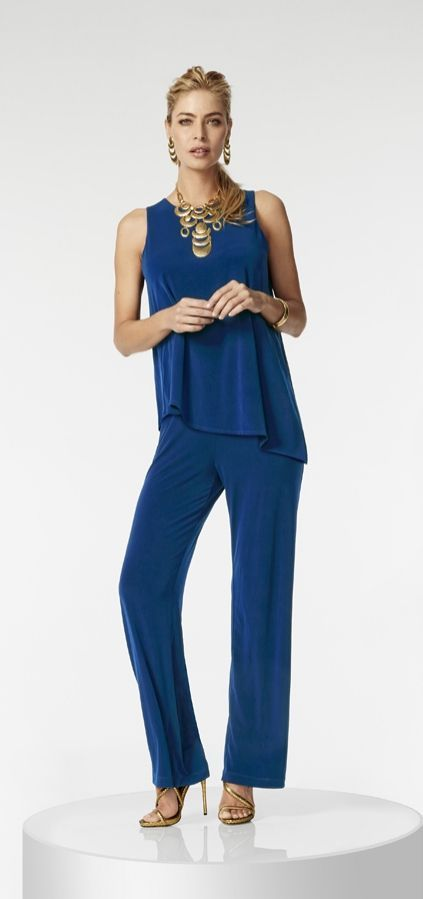 This jumpsuit makes style effortless with its easy, one-piece design. Just accessorize and go.