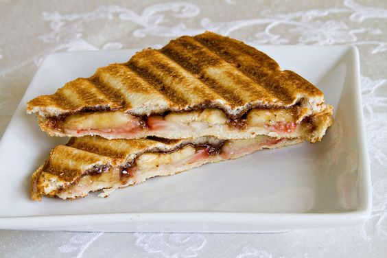 Strawberry Banana Nutella Panini - 4 by Sugarcrafter, via Flickr ...