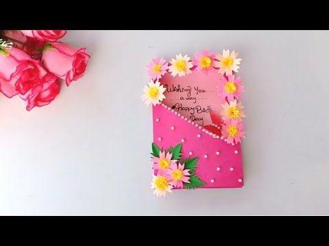 Beautiful Handmade Birthday Card Birthday Card Idea Youtube Handmade Birthday Cards Greeting Cards Handmade Birthday Birthday Card Craft