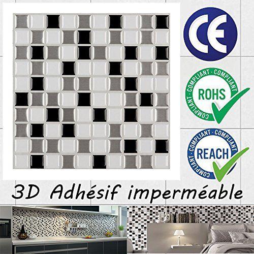Ecoart 3D Autocollant Mural Imperméable Auto-adhésif en ...