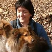 Woman with her fur kids