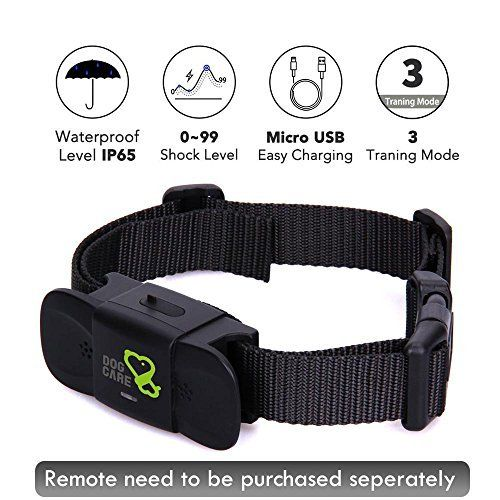 Dog Training Collar Receiver Dogcare Rechargeable Shock Collar