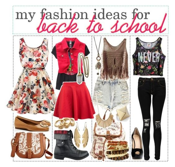 """Back to school... My fashion ideas"" by tomiliclark ❤ liked on Polyvore featuring мода, Chicnova Fashion, Boohoo, Lacey Ryan, Tory Burch, Giuseppe Zanotti, With Love From CA, Wet Seal, Kenneth Jay Lane и women's clothing"