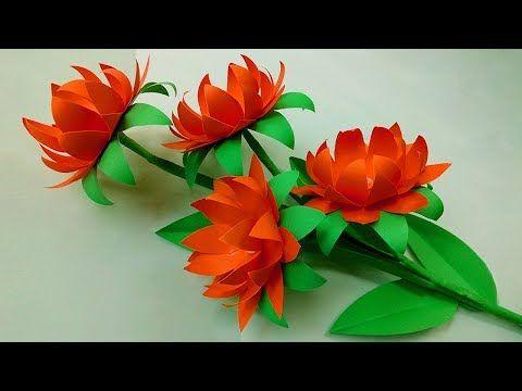 Diy Paper Flowers Making Handmade Crafts Very Easy Paper