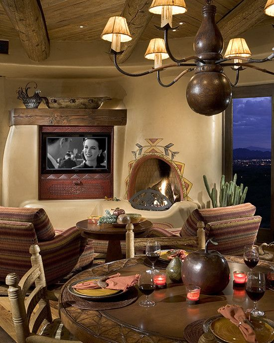 Bess Jones Interiors 39 S Design Western Living Room Southwest Decorating
