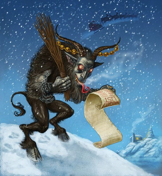 "<b>There are worse things than getting coal in your stocking.</b> Some naughty children have to reckon with <a href=""http://en.wikipedia.org/wiki/Krampus"" target=""_blank"">Krampus</a>!"