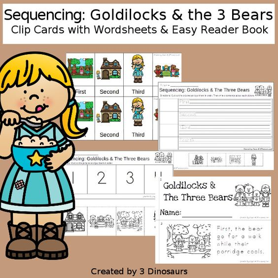 Sequencing Goldilocks And The Three Bears With Clip Cards Task