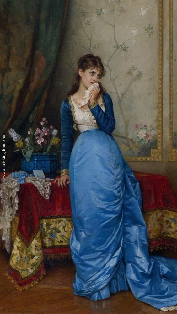 """""""The Letter"""". (by Eugène de Blaas)."""