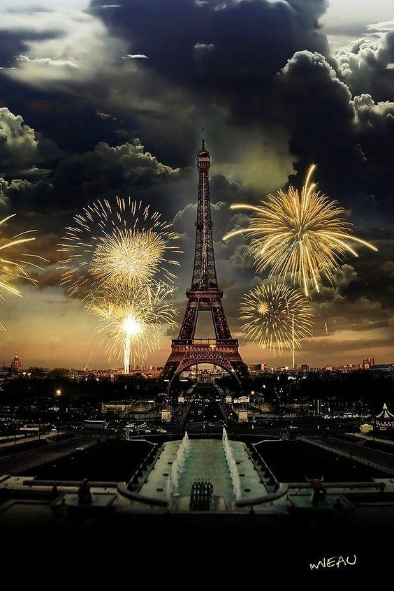 Fireworks over Paris. More:
