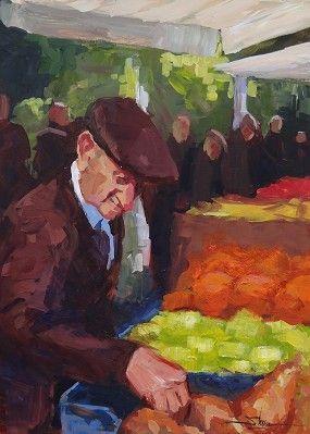 """""""Autumn Market"""" by Dianna Shyne - acrylic"""