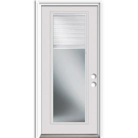 Therma Tru Benchmark Doors 36 In X 80 In Steel Full Lite Left Hand Inswing Ready To Paint Unfinished Prehung Single Front Door Brickmould Included With Blinds L Entry Doors Steel Entry Doors Reliabilt