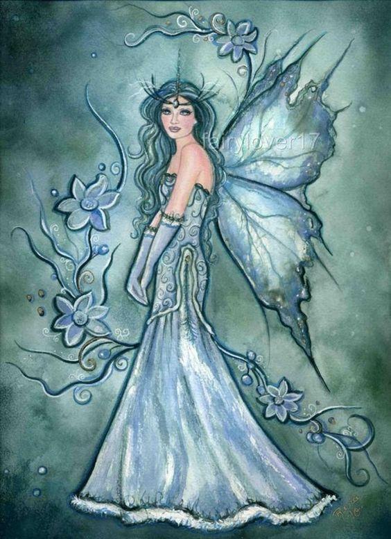 Winter Green Fairy By Renee L Lavoie.