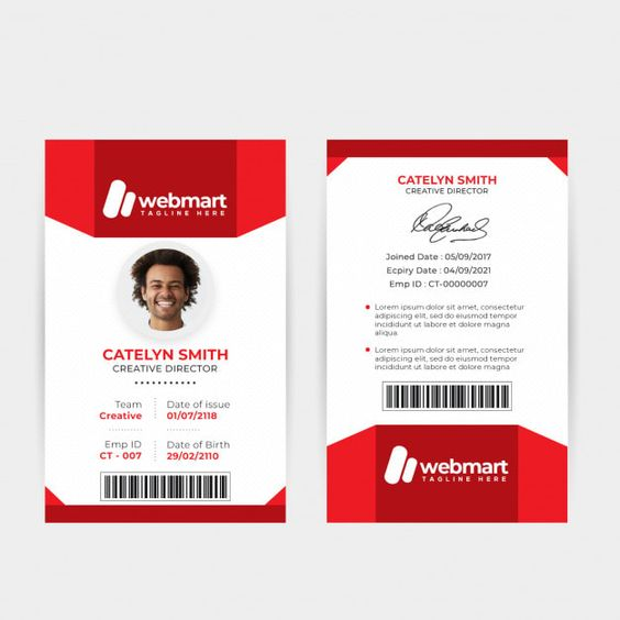 Free Child Id Card Template Unique Printable Id Card Template Templates Station Id Card Template Card Templates Free Photography Business Cards Template