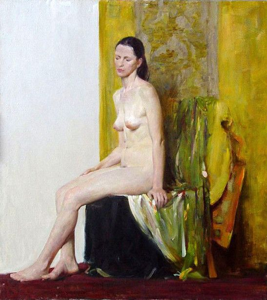 Vadim Chazov (1975, Russian) - Naked on Green