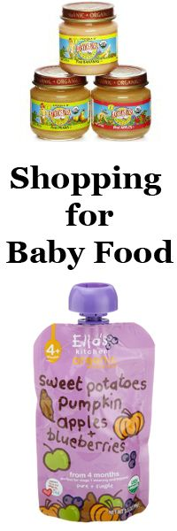 My adventures shopping for baby food...