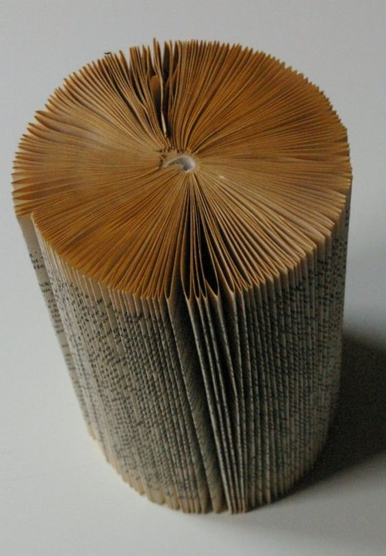 Cylinder Book Sculpture