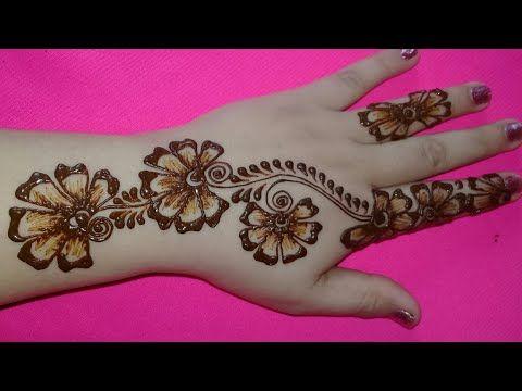 أجمل نقش حناء Youtube Finger Henna Henna Hand Tattoo Hand Henna