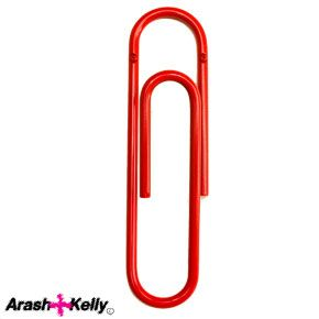 The Big Red Clip (also available in chrome) - suitable for coats, bags, magazines, or pretty much anything you want to hang up.  Made from steel, it's measures 28cm and costs £19.