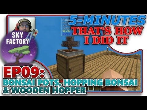 Skyfactory 4 Ep09 Bonsai Pots Hopping Bonsai Wooden Hopper Fertile Soil Help Tutorial Youtube Bonsai Pots Bonsai Tutorial