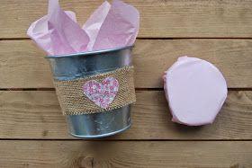 So Sunny DIY candy bucket. Maceta con chuches Shabby Chic