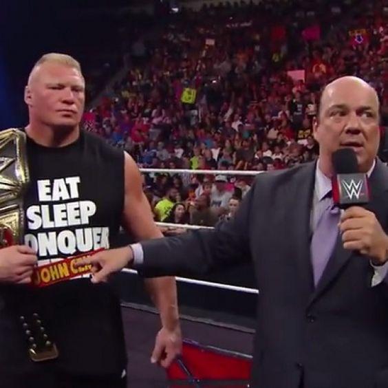 Brock Lesnar's Reign As WWE World Heavyweight Champion Begins on WWE RAW