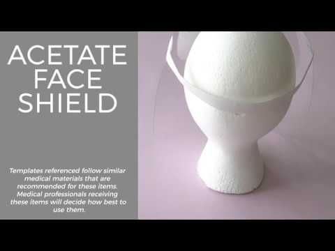 Learn How To Make A Face Shield Using Acetate Sheets Elastics