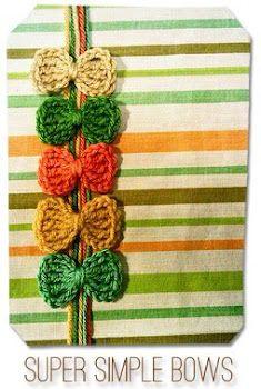 Super Simple Crochet Bows - adaiha.blogspot.ca