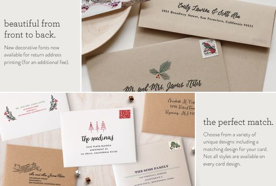 Want your cards to arrive already beautifully addressed and ready to be sent - for FREE?! Yes, please! Click through to find out what company offers this amazing service! It's the best!! #holidaycards #christmascards #harvardhomemaker