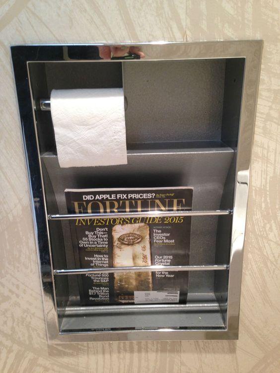 Hall Mack Relaxation Unit Chrome Mcm Bathroom Tp Holder Magazine Rack Mint Modern Midcentury