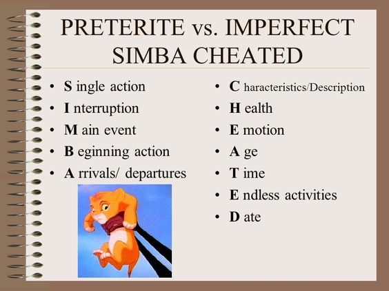 Writing a review in spanish and i need help with preterite vs imperfect! grasis!?