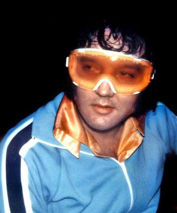 Image result for Elvis. ski goggles