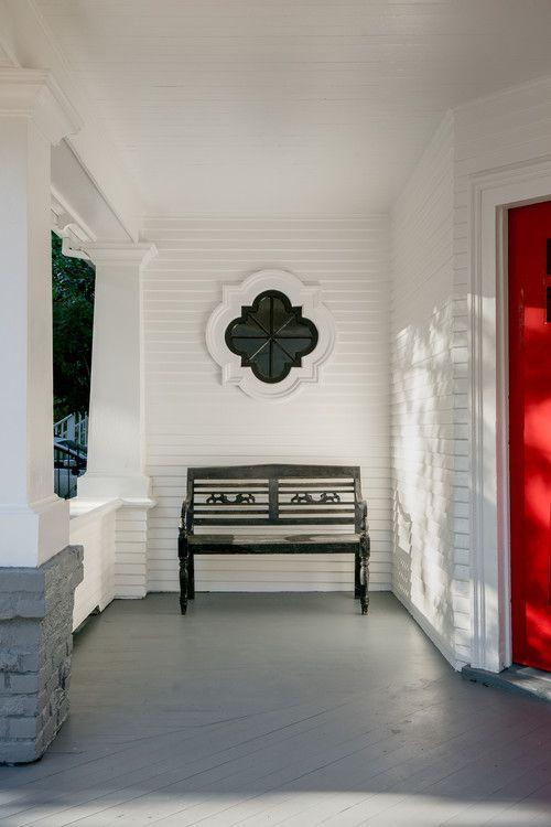 Light And Dark Decor In Craftsman Home Craftsman House Victorian Porch Decor