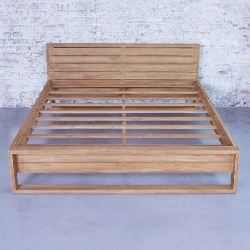 Bett Aus Teak 160x200 Minimalys Diy Mobel Einfach Bett 160x200 Rustikale Holzmobel
