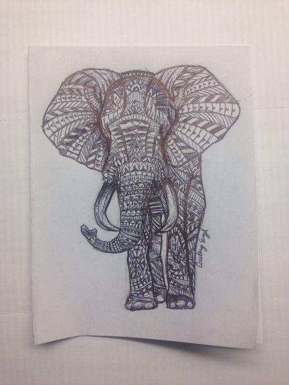 my recreated elephant doodle