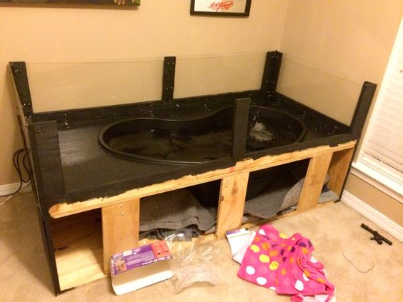Step 7 diy indoor turtle pond pinterest Diy indoor turtle pond