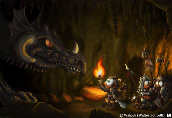 'La cacería del Dragón' Walpok - Ilustradores Argentinos
