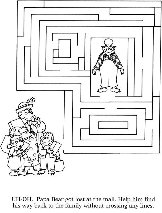 15 Best Berenstain Bears Activities For Kids Berenstain Bears Bear Coloring Pages Bears Preschool