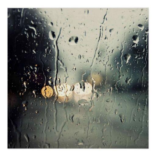 Pluie sur la fenêtre poster
