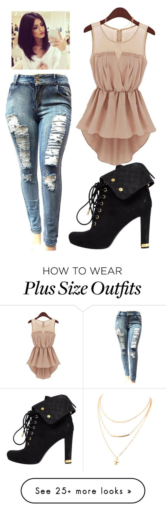 """""""Untitled #2158"""" by mikaelaryan on Polyvore featuring Louis Vuitton"""