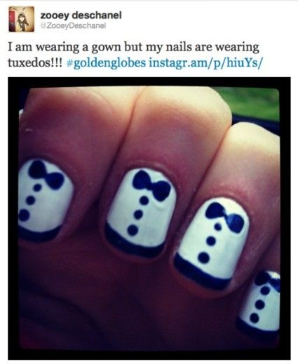 tuxedo nails-doing on my toes for wedding