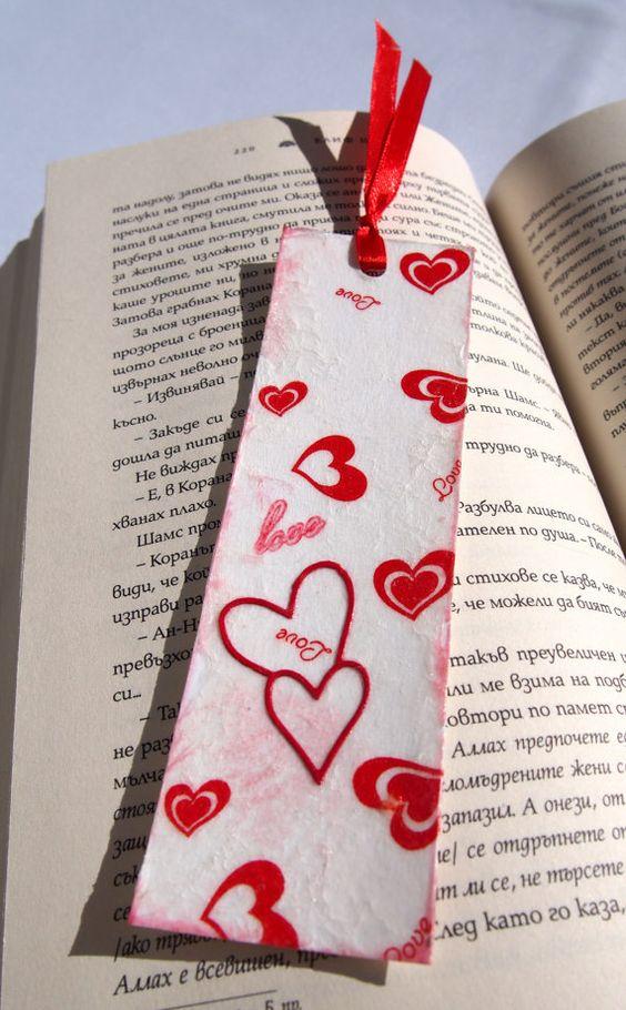 El amor está en el aire de Papel Bookmark