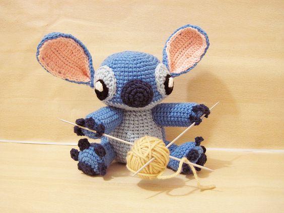 Amigurumi Lilo Y Stitch : Disney stitch, Stitches and Lilo and stitch on Pinterest