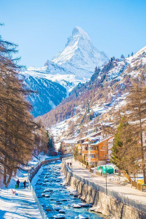 Winter Wonderland In Zermatt Amazing Travel Destinations Zermatt Swiss Alps