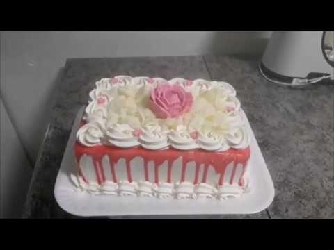 Bolo De Rosas E Calda De Escorrer Chantilly Bico 1m Mit Bildern