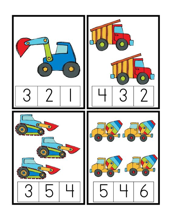 preschool printables construction vehicles matem tiques pinterest count boys and. Black Bedroom Furniture Sets. Home Design Ideas
