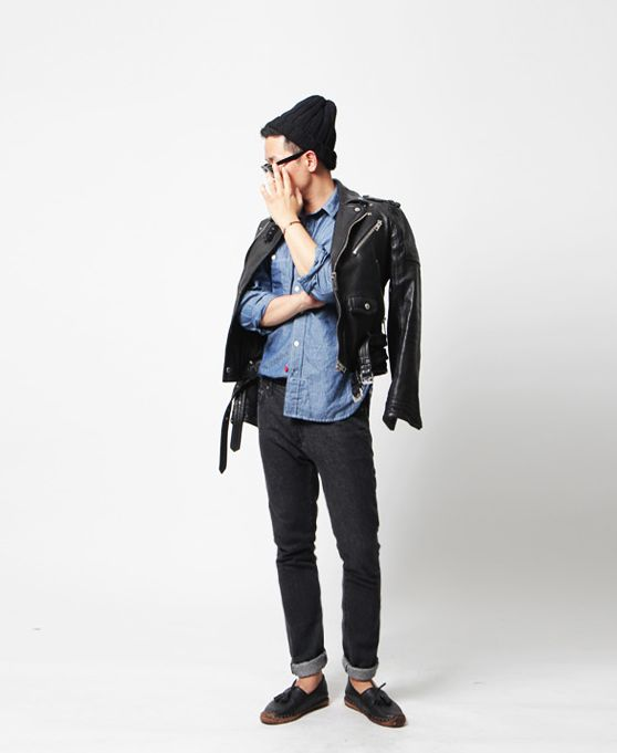 bangarangblog:  denim & leather