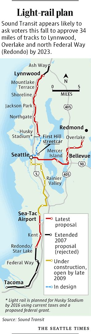Seattle Light Rail  Built Amp Proposed  Transit And Its