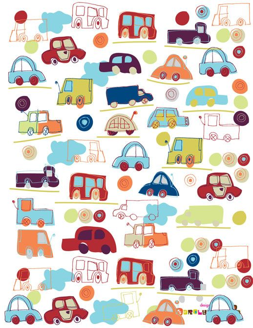Lilla Rogers art - ideas for wooden car shapes for baby toys.