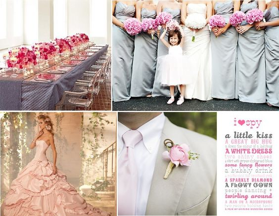 grey and pink  | Inspiration Board: Grey and Pink Extravaganza | Bridal Street, rs1
