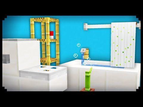 Minecraft 10 Easy Bathroom Furniture Ideas Youtube Minecraft Interior Design Minecraft Room Minecraft House Designs